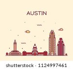 austin skyline  texas  usa.... | Shutterstock .eps vector #1124997461