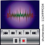 mp3 player control   Shutterstock .eps vector #1124999234