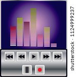 mp3 player control   Shutterstock .eps vector #1124999237