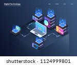 concept of big data processing  ... | Shutterstock .eps vector #1124999801
