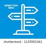direction sign board vector... | Shutterstock .eps vector #1125001361