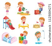 vector illustration set of... | Shutterstock .eps vector #1125004271