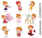 vector illustration of little... | Shutterstock .eps vector #1125004274