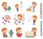 vector illustration of little... | Shutterstock .eps vector #1125004304
