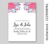 floral wedding invitation... | Shutterstock .eps vector #1125008981