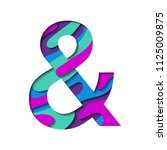 ultra violet cyan purple and... | Shutterstock .eps vector #1125009875