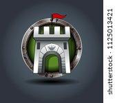 castle defensive tower  rusty... | Shutterstock .eps vector #1125013421