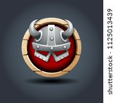 warrior's helm  wooden rounded...