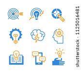 set of icons of education ... | Shutterstock .eps vector #1125016481