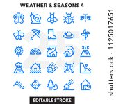 dashed outline icons pack for... | Shutterstock .eps vector #1125017651