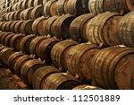 Wine Barrels Stacked Old Cellar - Fine Art prints