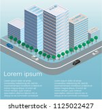 isometric flat 3d isolated... | Shutterstock . vector #1125022427