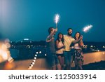 group of happy friends... | Shutterstock . vector #1125033914