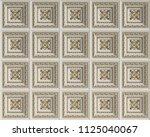 classic interior flat caisson... | Shutterstock . vector #1125040067