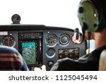 Closeup of a cockpit of cessna...