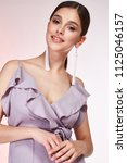 pretty beautiful sexy elegance... | Shutterstock . vector #1125046157