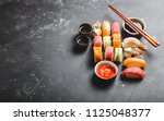 top view of assorted mixed... | Shutterstock . vector #1125048377