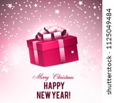 christmas background with gifts.... | Shutterstock .eps vector #1125049484