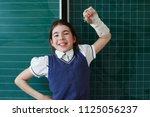 primary school student on the... | Shutterstock . vector #1125056237