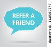 refer a friend written on... | Shutterstock .eps vector #1125057374
