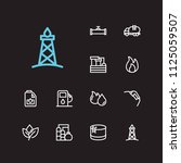 oil icons set. oil fossil and... | Shutterstock .eps vector #1125059507