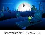 illustration of halloween night ... | Shutterstock .eps vector #112506131