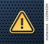 warning dangerous attention... | Shutterstock .eps vector #1125065204