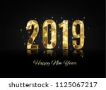 happy new year and merry... | Shutterstock .eps vector #1125067217