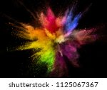 colored powder explosion... | Shutterstock . vector #1125067367