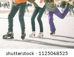 image of ice skaters group...   Shutterstock . vector #1125068525