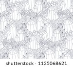 fantasy landscape with crystals ... | Shutterstock .eps vector #1125068621