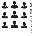 set of businessmen men and... | Shutterstock . vector #1125071747
