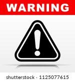 illustration of black warning... | Shutterstock .eps vector #1125077615