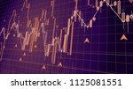 forex trade market chart... | Shutterstock . vector #1125081551