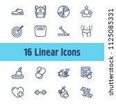 lifestyle icon set and training ... | Shutterstock .eps vector #1125085331
