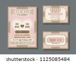 wedding invitation card vector... | Shutterstock .eps vector #1125085484