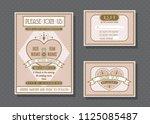 wedding invitation card vector...   Shutterstock .eps vector #1125085487