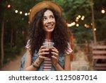 image of brunette joyous teen... | Shutterstock . vector #1125087014
