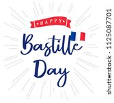 happy bastille day banner with... | Shutterstock .eps vector #1125087701