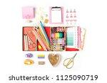 organizer with stylish... | Shutterstock . vector #1125090719