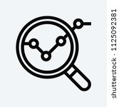 analysis icon. magnifier symbol. | Shutterstock .eps vector #1125092381