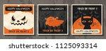 happy halloween vector banner ... | Shutterstock .eps vector #1125093314