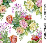 watercolor seamless pattern... | Shutterstock . vector #1125095921