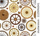 carriage vector vintage... | Shutterstock .eps vector #1125096341