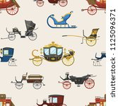 carriage vector vintage... | Shutterstock .eps vector #1125096371