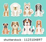 sticker collection of different ... | Shutterstock .eps vector #1125104897