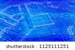 vector architectural plan  ... | Shutterstock .eps vector #1125111251