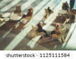 blurred street background with... | Shutterstock . vector #1125111584