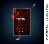 kickbox fighter preparing to...   Shutterstock .eps vector #1125115487