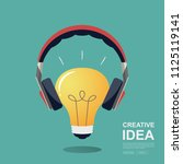 business concept for ideas... | Shutterstock .eps vector #1125119141